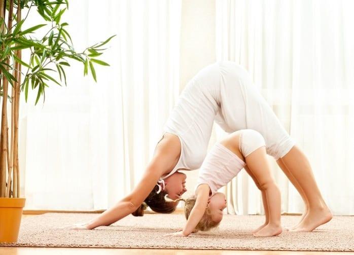 mamma bambina yoga