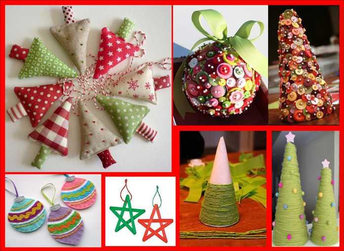Albero di natale decorazioni fai da te mammole - Decorazioni per feste fai da te ...